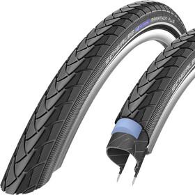 "SCHWALBE Marathon Plus Polkupyöränrenkaat SmartGuard Endurance Reflex 28x1.10"" , musta"